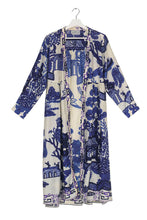 Load image into Gallery viewer, Blue Willow Duster Coat