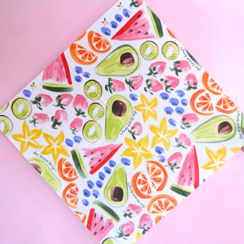 Beeswax Food Wrap Large - Fruit