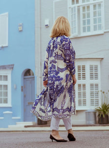 Blue Willow Duster Coat
