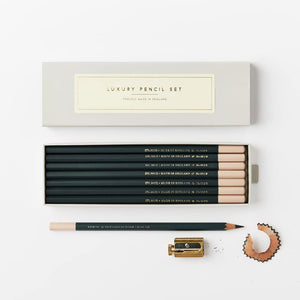 Dark Green B Pencil Set
