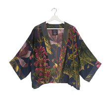 Load image into Gallery viewer, Blue Magnolia Flower Kimono