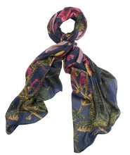 Load image into Gallery viewer, Blue Magnolia Scarf