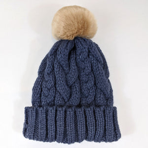 Woolly Hat - Blue