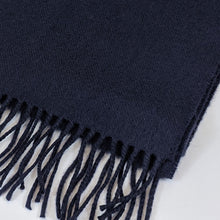 Load image into Gallery viewer, Merino Wool Scarf - Dark Navy