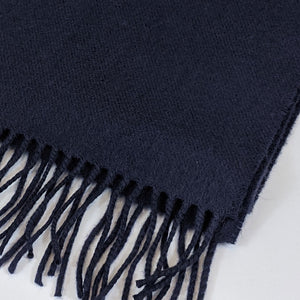 Merino Wool Scarf - Dark Navy