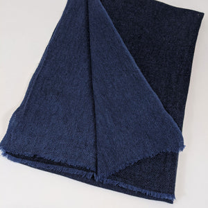 Pure Cashmere Scarf - Dark Blue