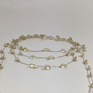 Shimara Carlow Long Silver Oval Dome Necklace