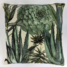 Load image into Gallery viewer, 'Succulents' Velvet Cushion