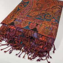 Load image into Gallery viewer, Atelier Lila Rust Turquoise Wool Throw