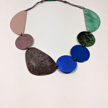 Load image into Gallery viewer, Lilac & Green Patinated Brass Necklace by Sibilia