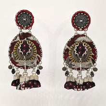 Load image into Gallery viewer, Ayala Bar Burgundy Dragonfly Drop Earrings