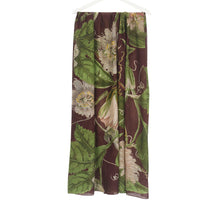 Load image into Gallery viewer, Burgundy Passionflower Scarf