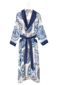 Blue 'China Plates' Dressing Gown