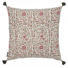 Load image into Gallery viewer, Kollam Blush Hand Blocked Cushion