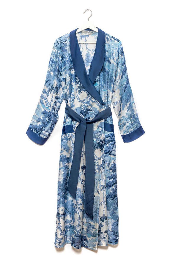 Dressing Gown Blue 'China Tree'