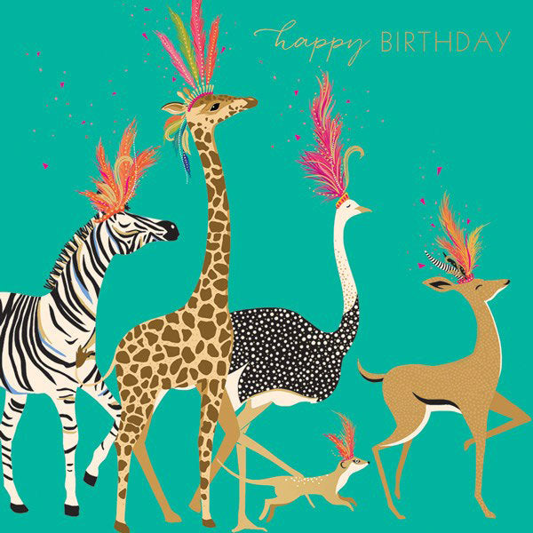Birthday Card - Party Animals