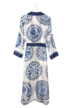 Load image into Gallery viewer, Blue 'China Plates' Dressing Gown