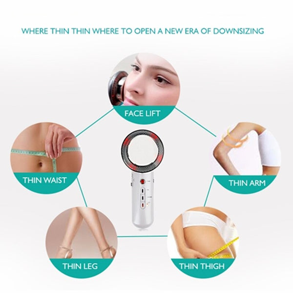 3 in 1 Ultrasonic Face Body Massager