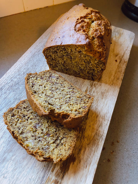 Healthy Banana Bread in the Little Helper FunPod Safety Stand