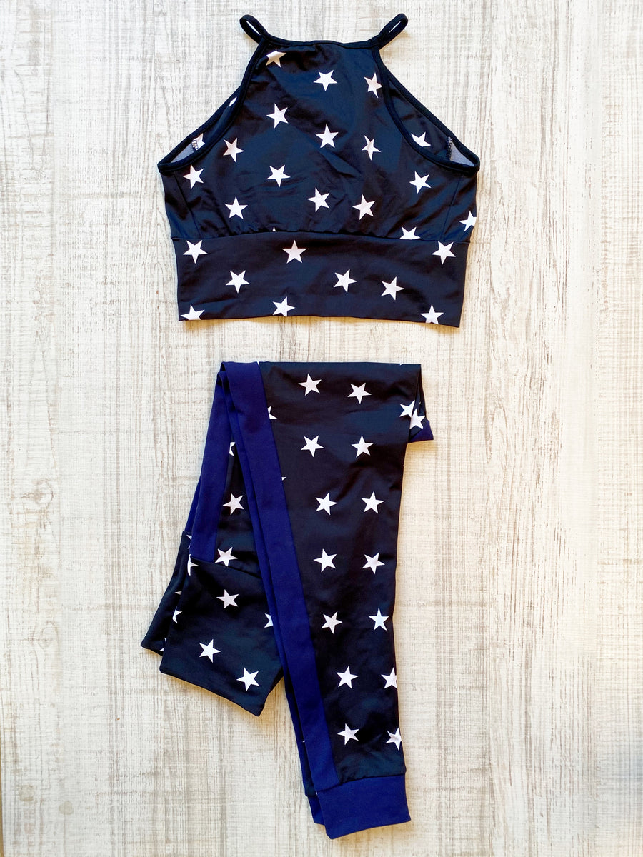 Conjunto Top y Leggings Stars Night