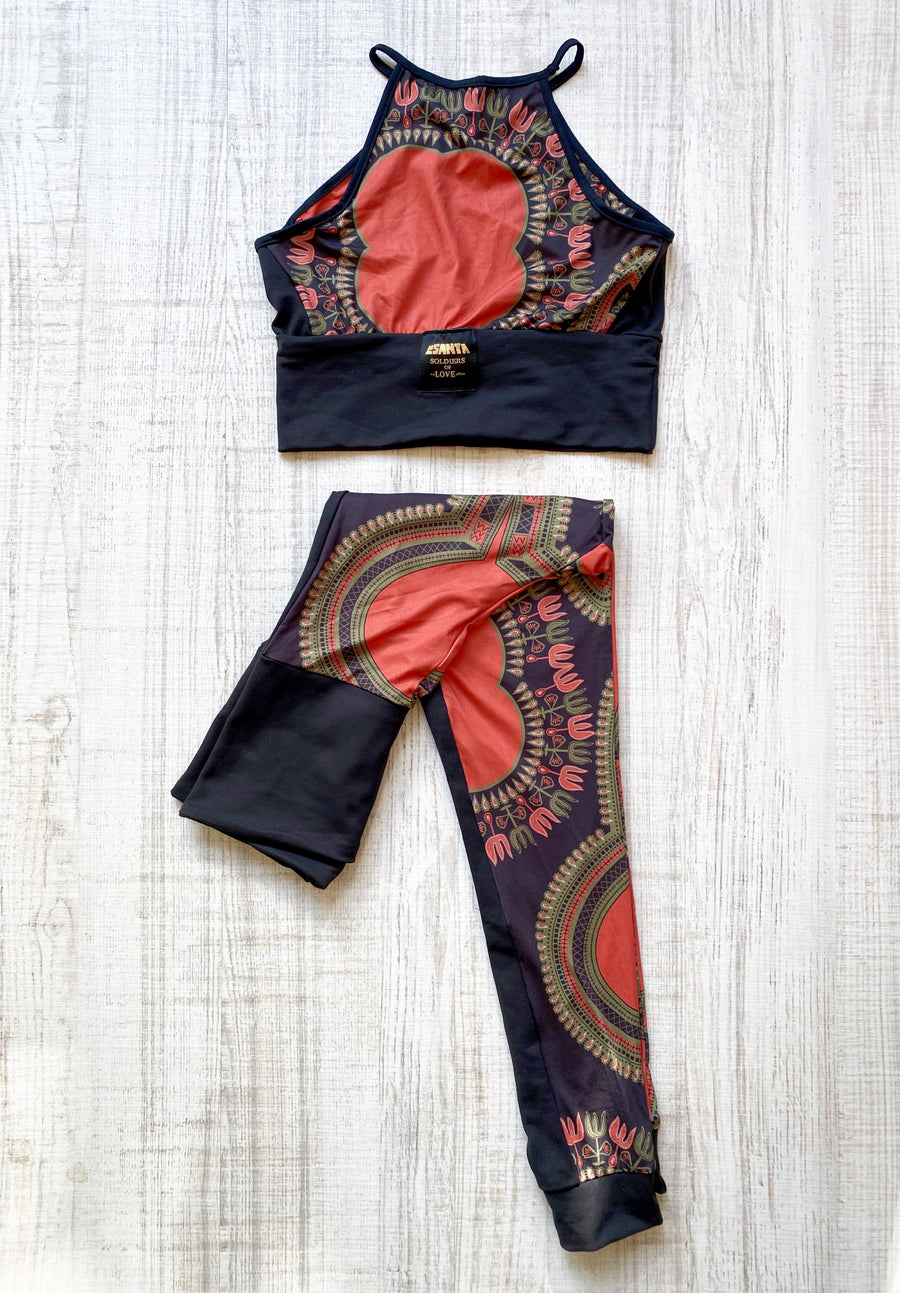 Conjunto Top y Leggings Abeba Black