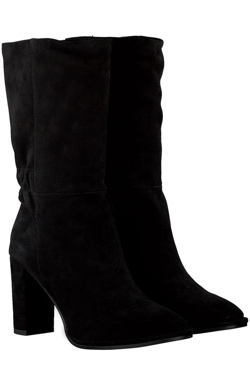 Elastic Heeled Ankle Boots