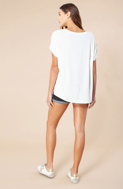 Short Sleeve Top in Ivory