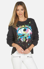 Lee Watercolor Eye Crop Pullover