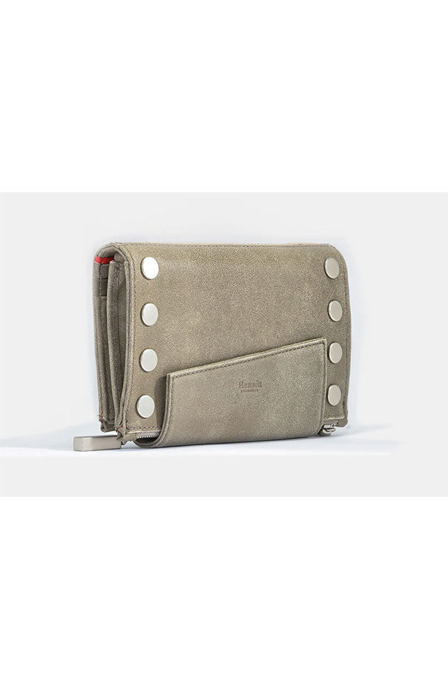 Levy Wallet in Pewter, Silver