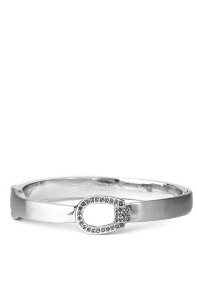 Buckle Hinge Bangle Silver