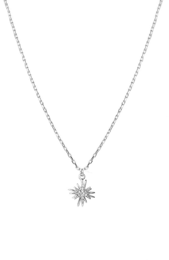 Starburst Necklace Silver