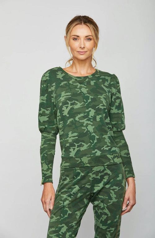 Birch Long Sleeve Top in Camo