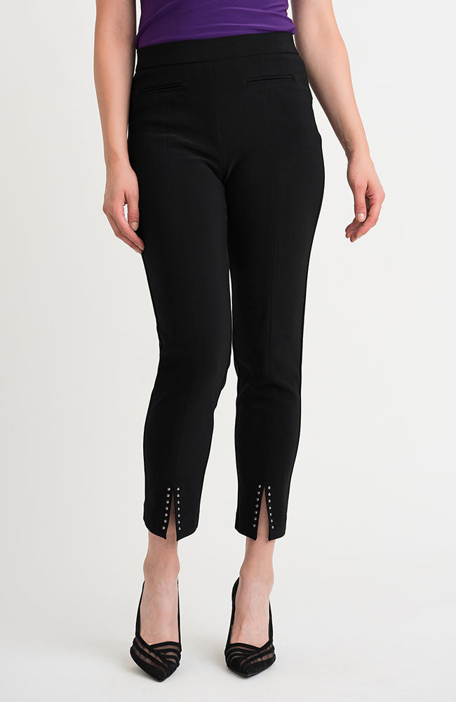 Pull On Ankle Pant Split Studded Hem