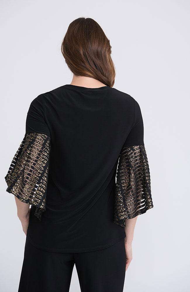 Gold Sleeve Bell Top