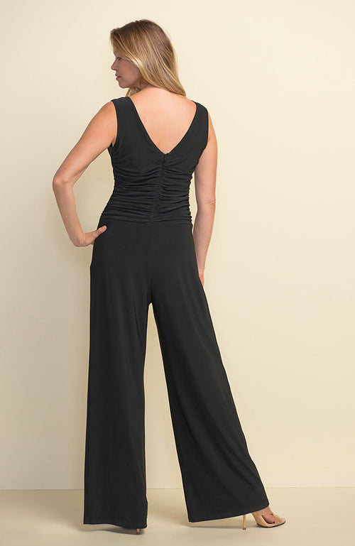 Black Rouched Jumpsuit