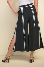 Split Knee Pant in Black Vanilla