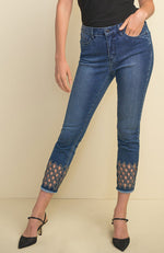 Capri Jean with Diamond Hem Details