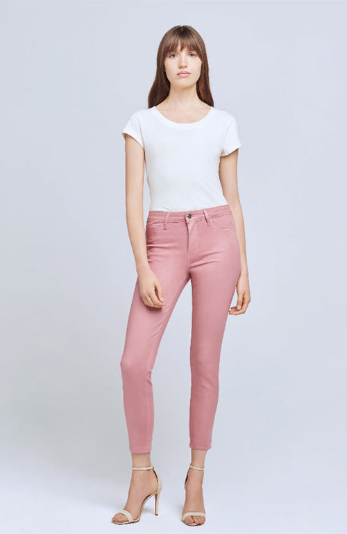 Margot Coated Jean in Dusty Rose