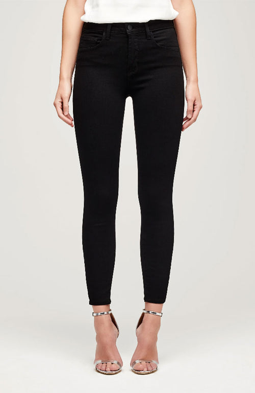 Margot High Rise Ankle Jean in Noir