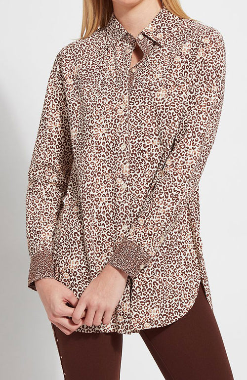 Schiffer Blouse w/Contrast Fabric