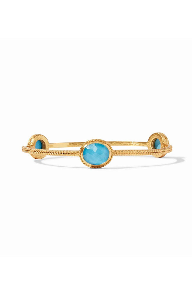 Calypso Bangle Gold Iridescent Pacific Blue