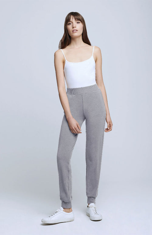 Moss High Rise Jogger Pant Heather Gray
