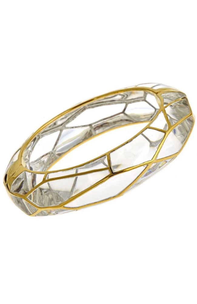 Lucite Bangle with Gold