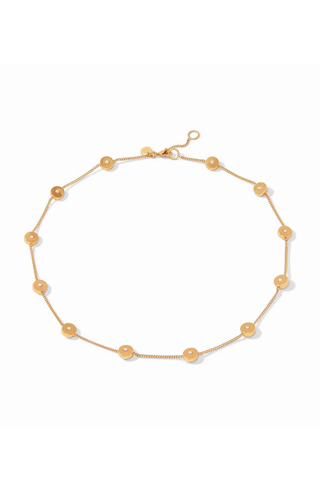 Poppy Delicate Station Necklace Gold