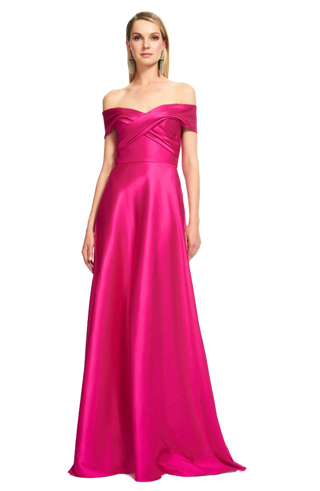 Off Shoulder Gown, Fuschia