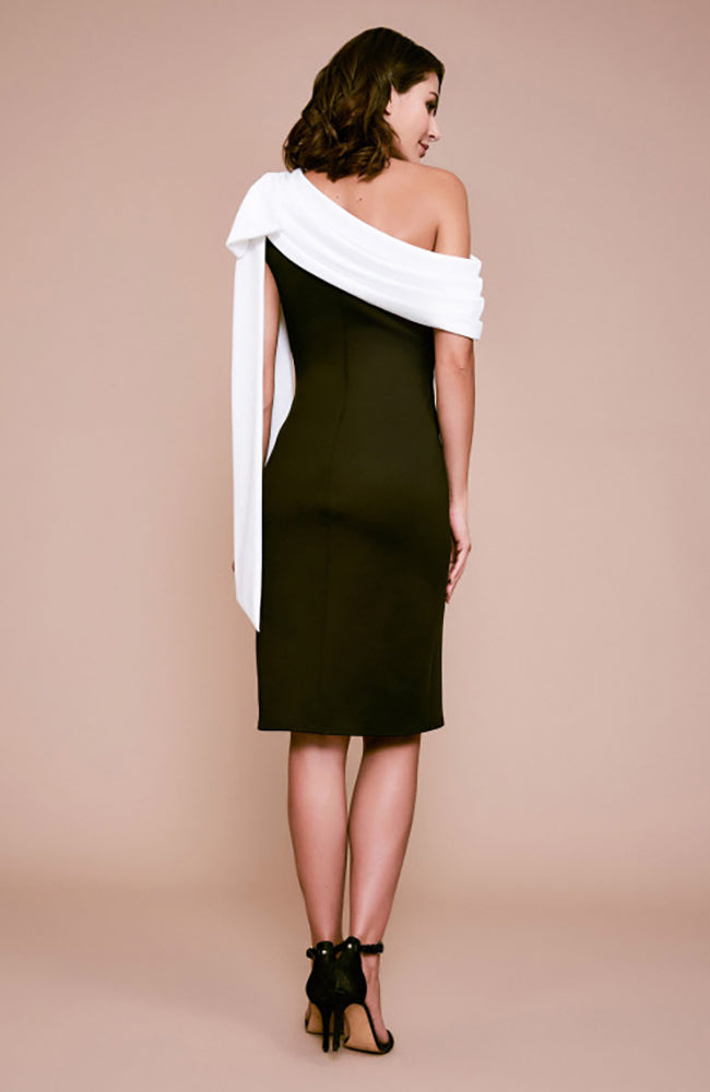 Rigel Crepe One-Shoulder Neoprene Dress