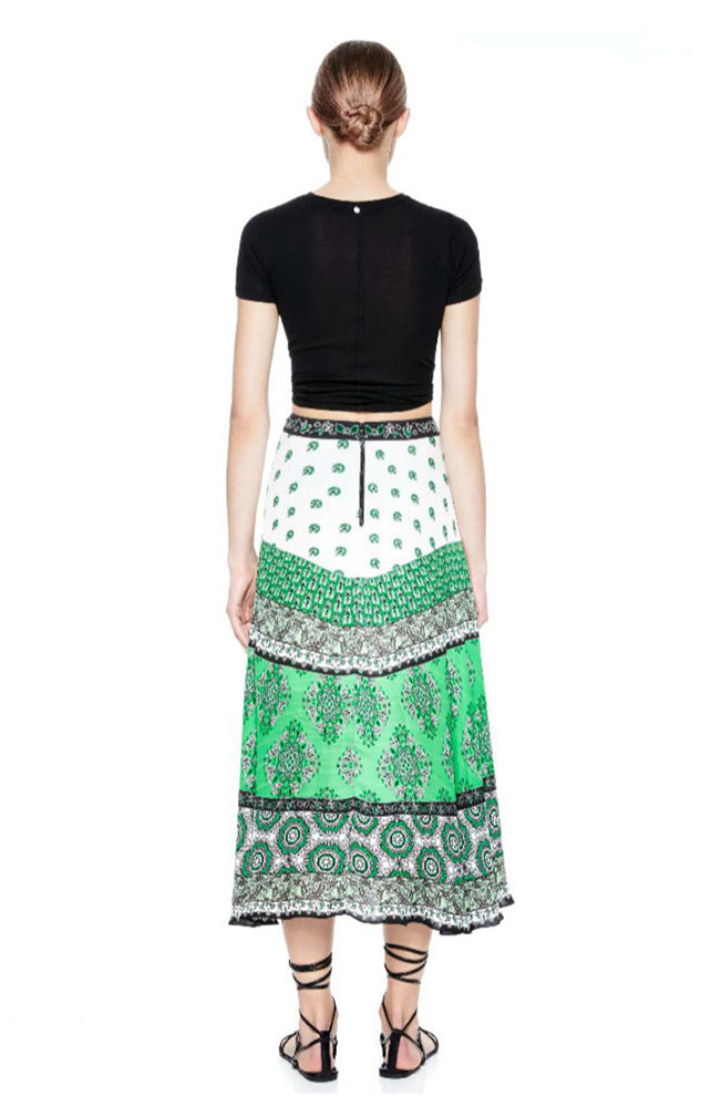Nanette Mock Wrap Midi Skirt