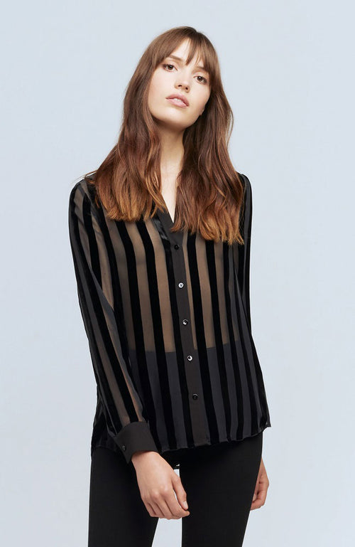 Hailie Long Sleeve Blouse Stripe