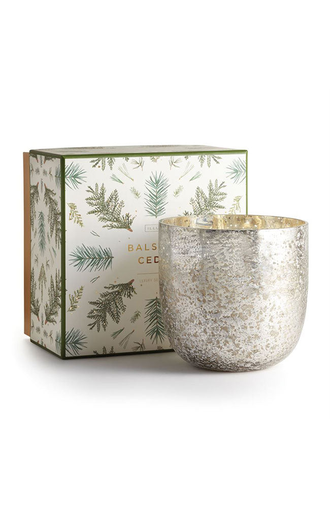 Balsam Luxe Sanded Mercury Glass Candle