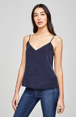 Jane Spaghetti Strap Top in Midnight